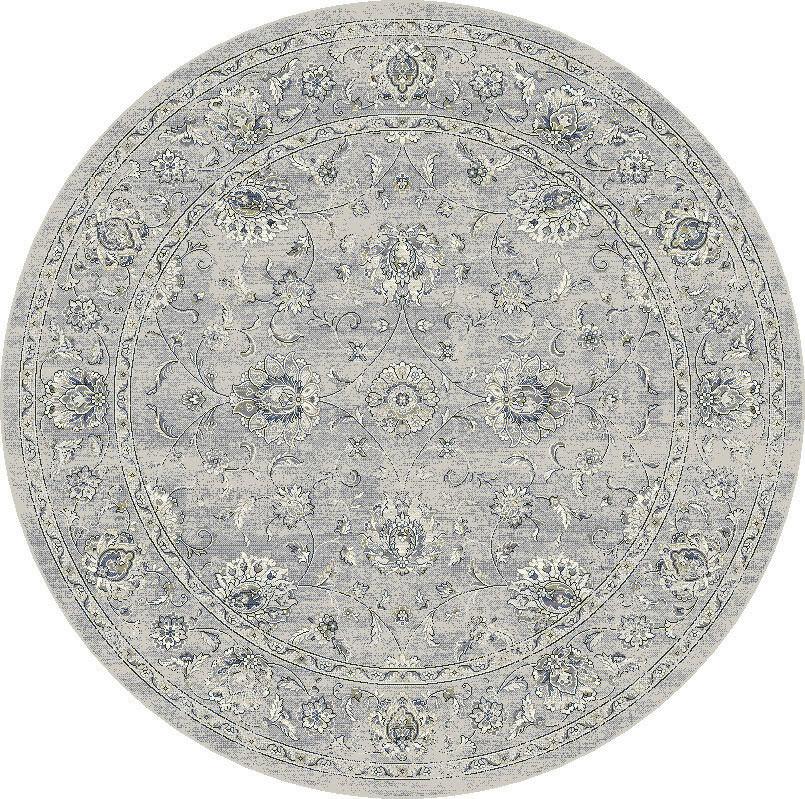 """Dynamic Ancient Garden 7'-10"""" x 7'-10"""" Round 57126-9696 Cream / Grey Rug"""