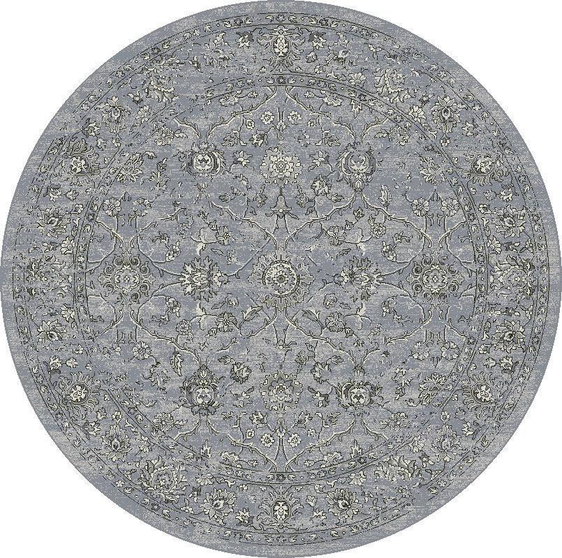 """Dynamic Ancient Garden 7'-10"""" x 7'-10"""" Round 57136-4646 Cream / Grey Rug"""