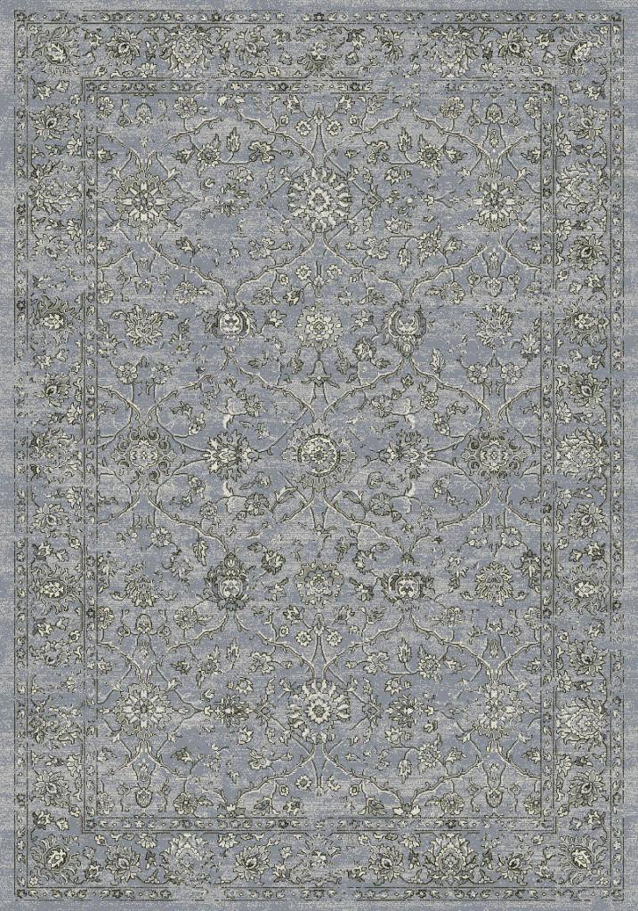 "Dynamic Ancient Garden 9'-2"" x 12'-10"" 57136-4646 Steel Blue / Cream Rug"