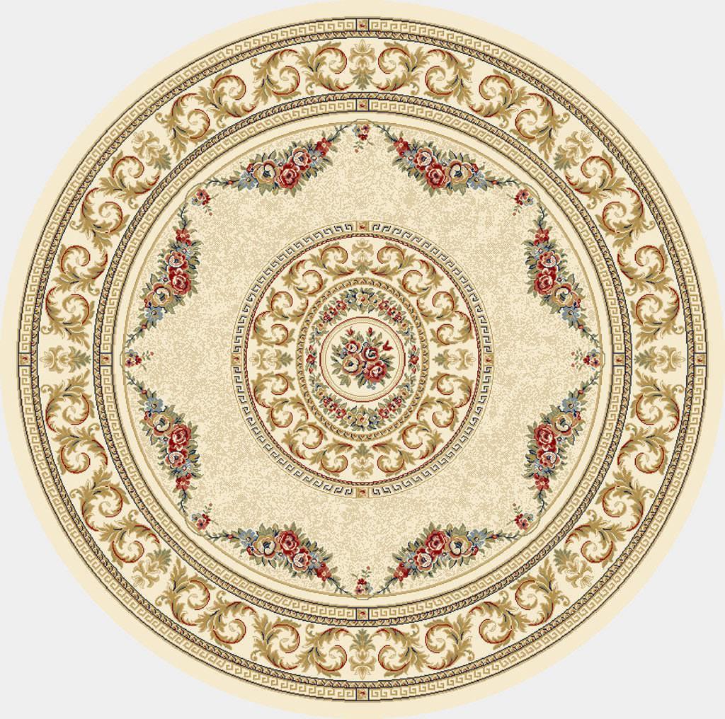 """Dynamic Ancient Garden 7'-10"""" x 7'-10"""" Round 57226-6464 Ivory Rug"""