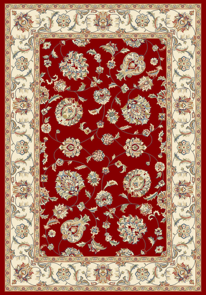 """Dynamic Ancient Garden 9'-2"""" x 12'-10"""" 57365-1464 Red / Ivory Rug"""