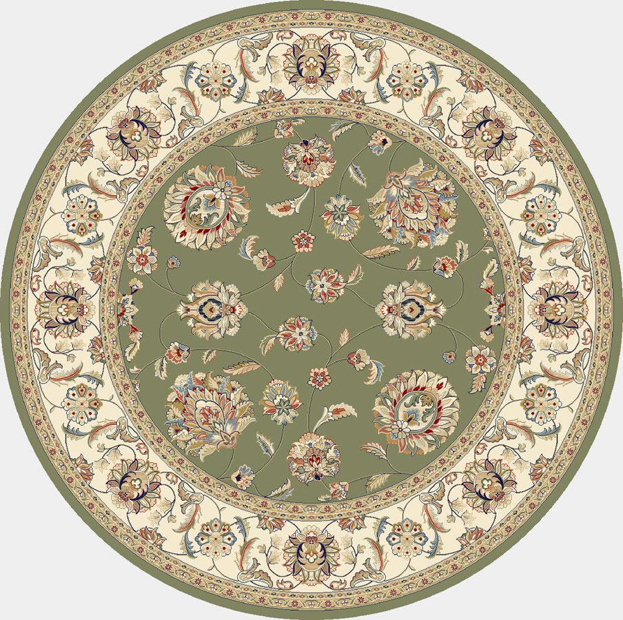"Dynamic Ancient Garden 7'-10"" x 7'-10"" Round 57365-4464 Green / Ivory Rug"