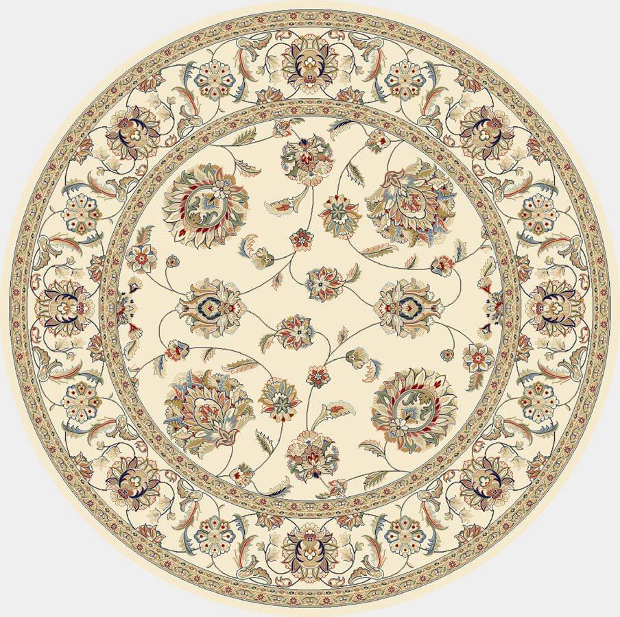 """Dynamic Ancient Garden 7'-10"""" x 7'-10"""" Round 57365-6464 Ivory Rug"""