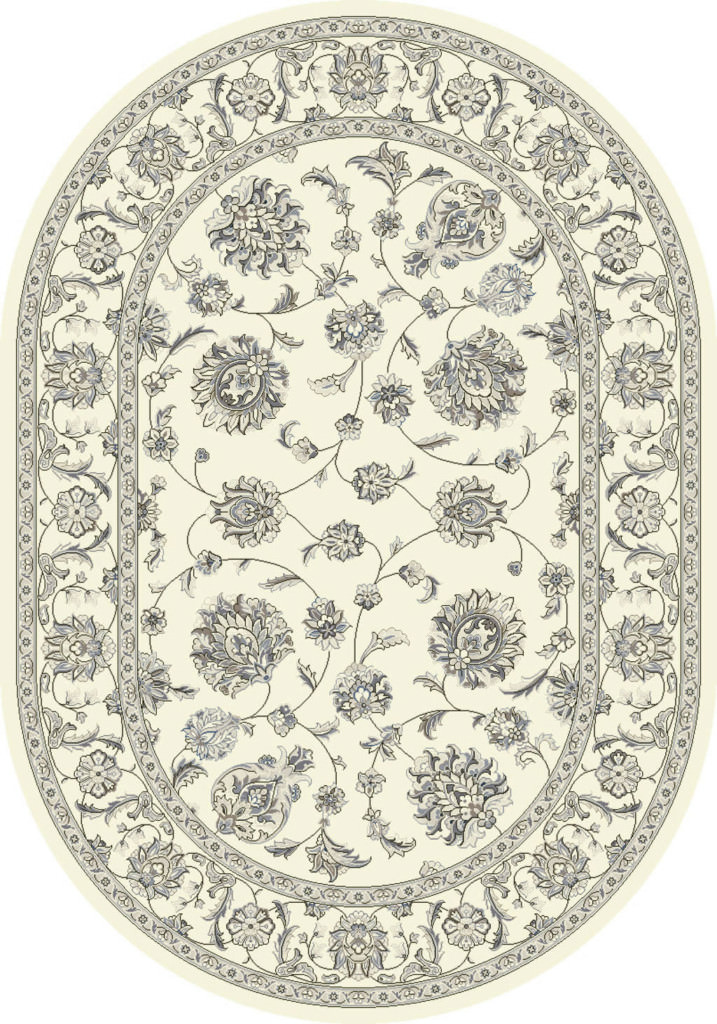 "Dynamic Ancient Garden 6'-7"" x 9'-6"" Oval 57365-6666 Cream Rug"
