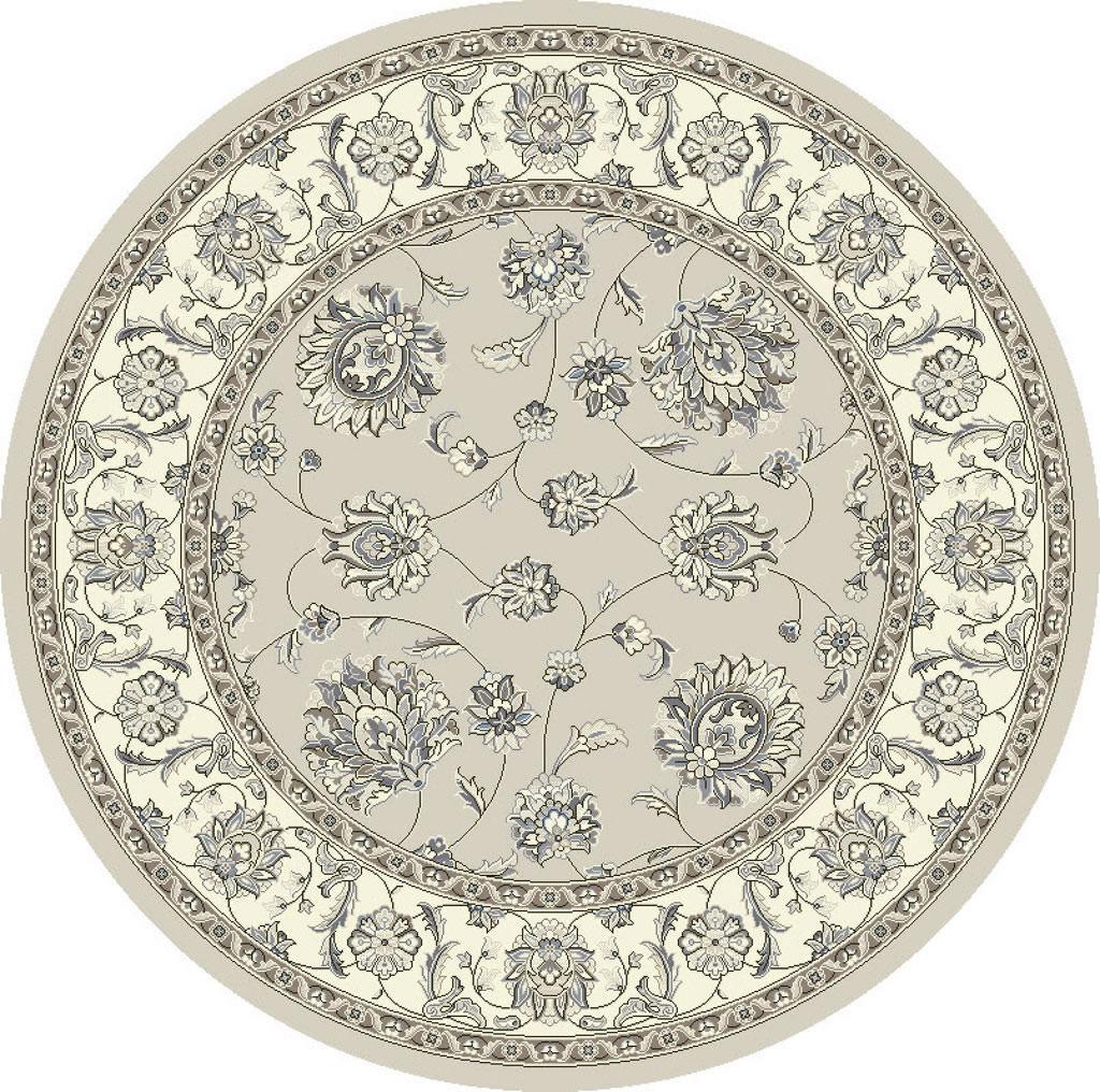 """Dynamic Ancient Garden 7'-10"""" x 7'-10"""" Round 57365-9666 Soft Grey / Cream Rug"""