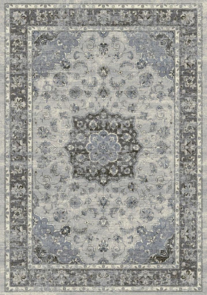 """Dynamic Ancient Garden 9'-2"""" x 12'-10"""" 57559-9656 Silver / Grey Rug"""