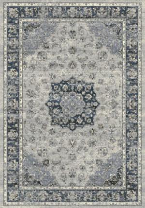 """Dynamic Ancient Garden 9'-2"""" x 12'-10"""" 57559-9686 Silver / Blue Rug"""