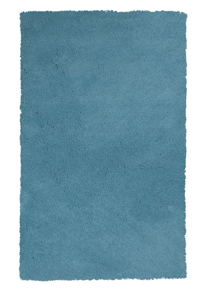 "KAS Bliss 1577 Highlighter Blue Shag 27"" X 45"" Rug"