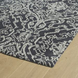 Kaleen Cozy Toes CTC06-38 Charcoal Rug Close-Up