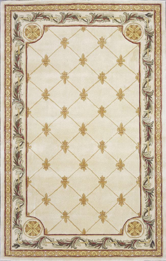 Jewel 310 Antique Ivory Fleur-De-Lis