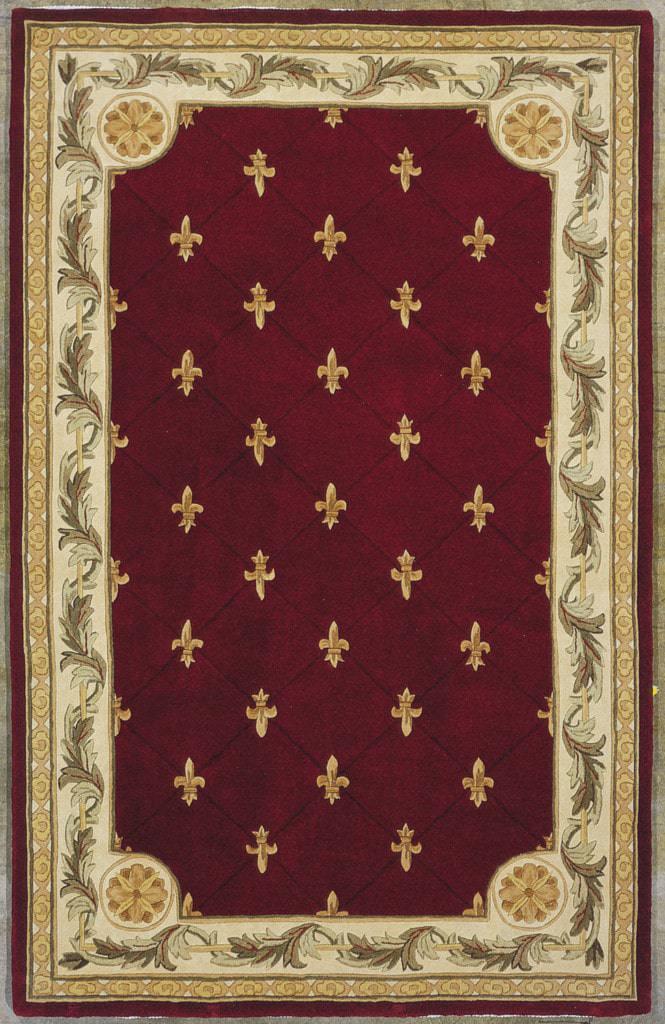 Jewel 311 Red Fleur-De-Lis