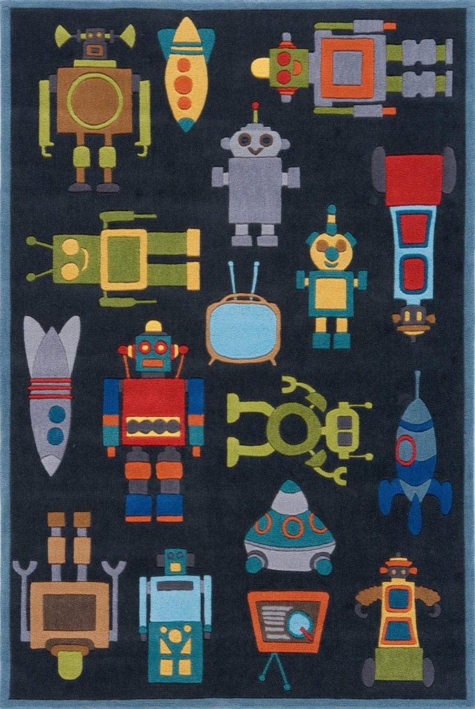Momeni Lil Mo Whimsy 8' x 10' LMJ-1 Steel Blue Rug