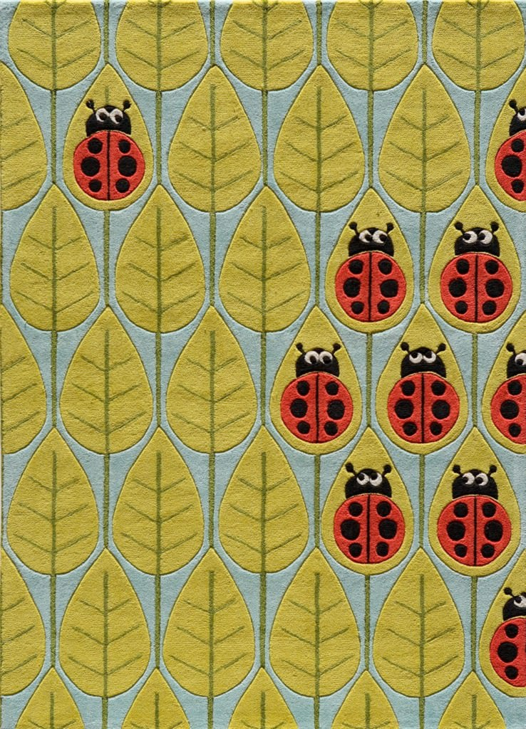 Momeni Lil Mo Whimsy 8' x 10' LMJ13 Lady Bug Red Rug