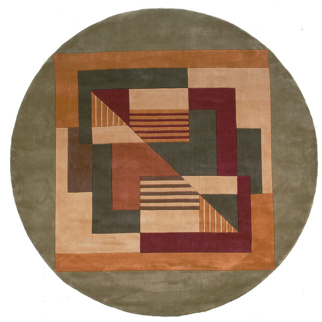 "Momeni New Wave 9'-6"" x 13'-6"" NW-06 Multi Round Rug"
