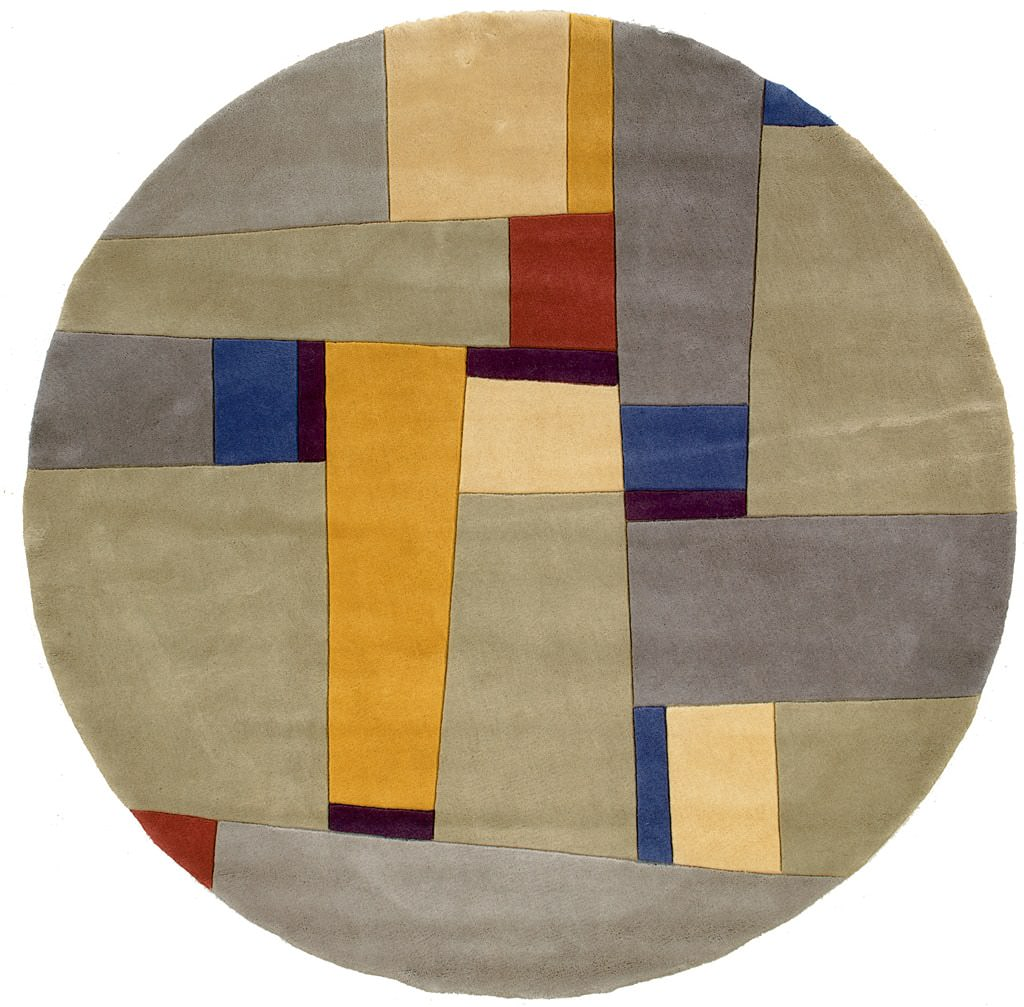 "Momeni New Wave 9'-6"" x 13'-6"" NW-23 Grey Round Rug"