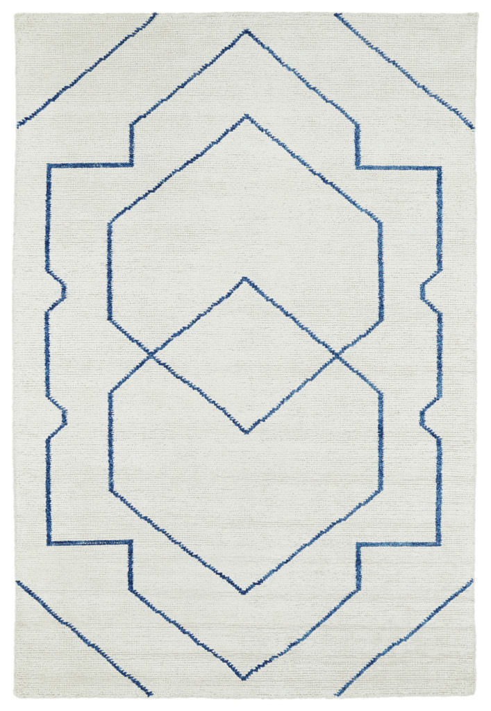 Kaleen Solitaire SOL01-01 Ivory Rug