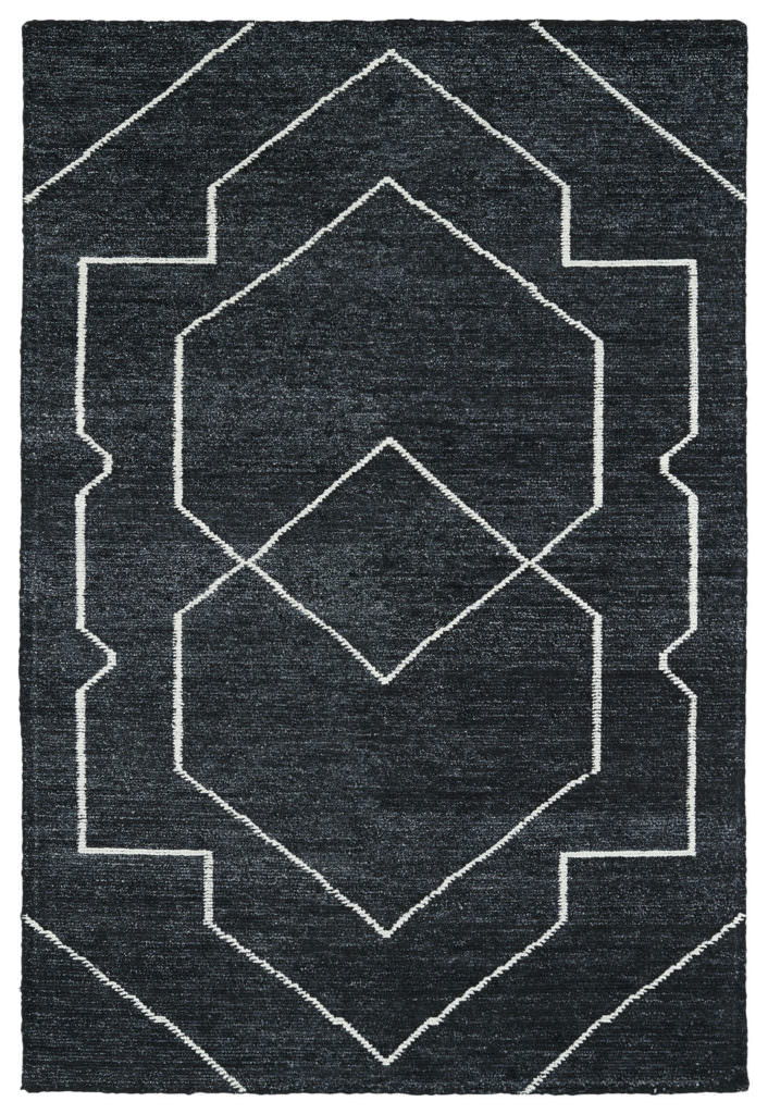 Kaleen Solitaire SOL01-38 Charcoal Rug