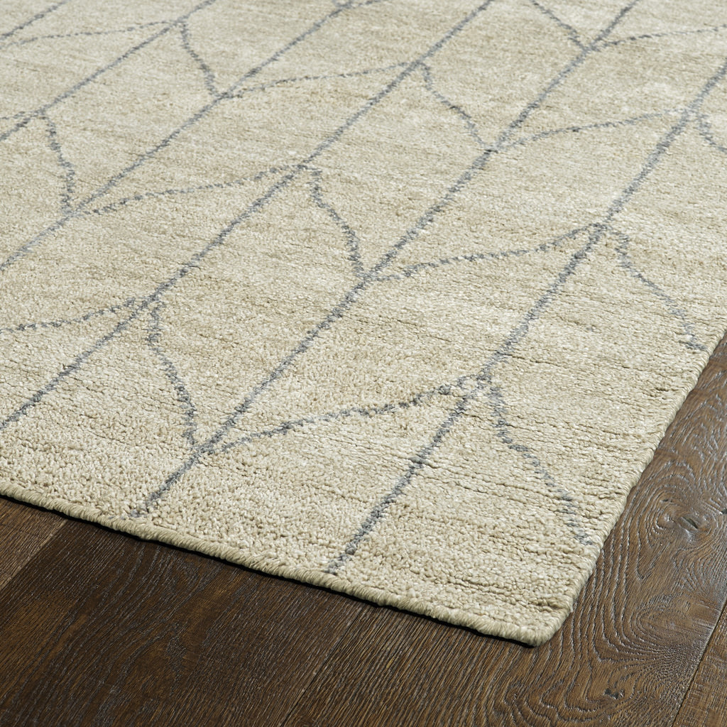 Kaleen Solitaire SOL05-29 Sand Rug Close-Up