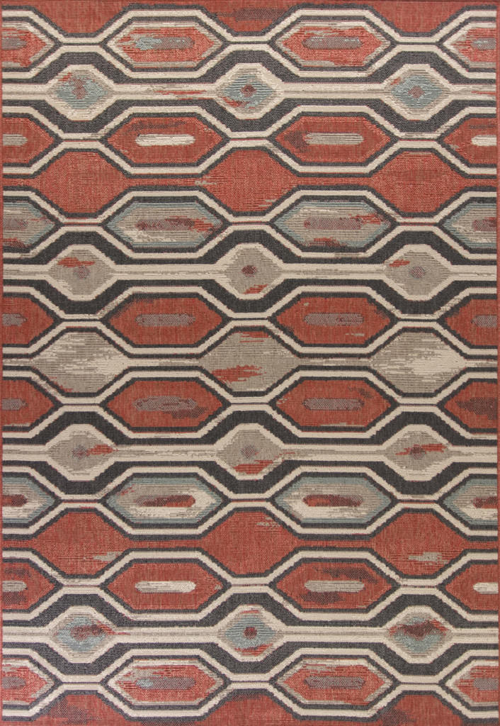 "KAS Vista 5800 Rust Illusions 3'-3"" x 4'-11"" Rug"