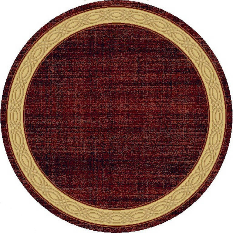 "Dynamic Yazd 5'-3"" x 5'-3"" Round 1770-310 Red Rug"