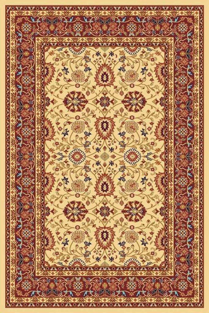 "Dynamic Yazd 7'-10"" x 10'-10"" 2803-130 Cream-Red Rug"