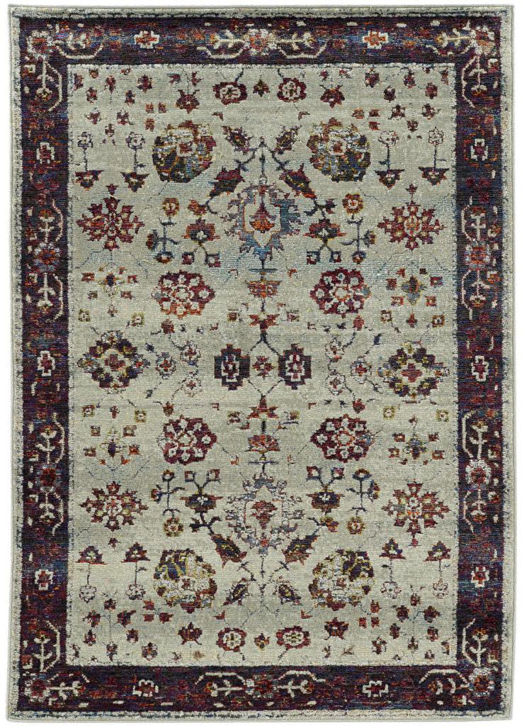 Oriental Weavers Andorra ANR 6842D Stone / Red Rug