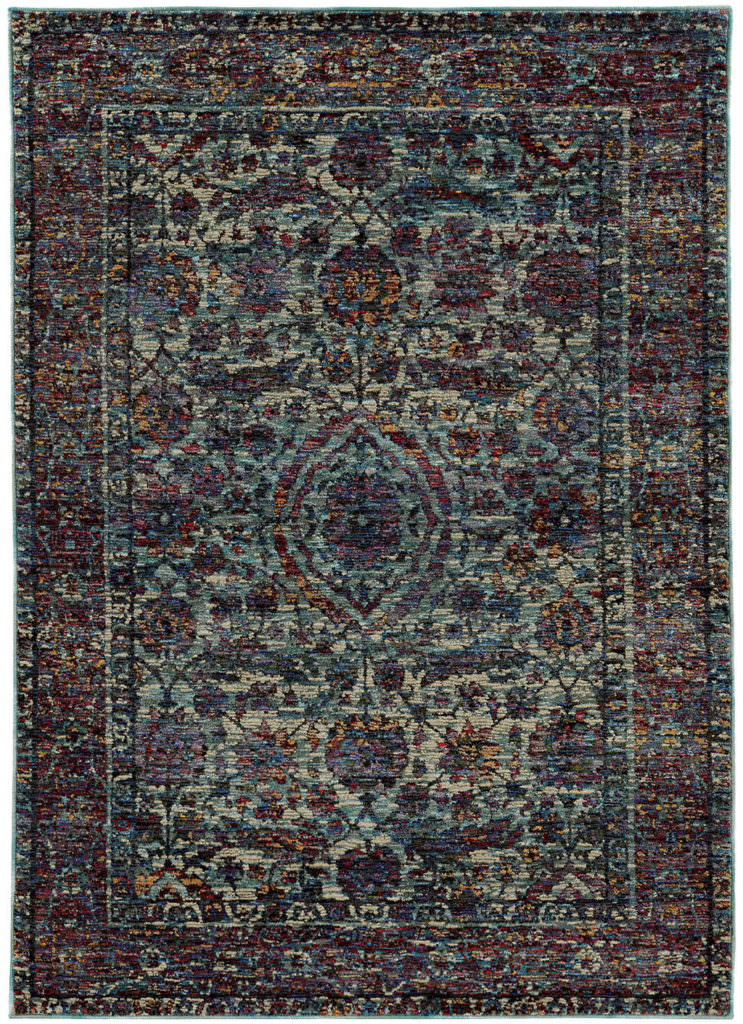 Oriental Weavers Andorra ANR 6846B Blue / Purple Rug