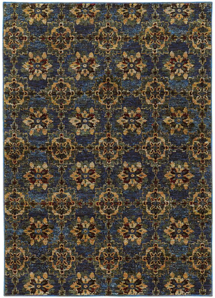 Oriental Weavers Andorra ANR 6883C Blue / Gold Rug