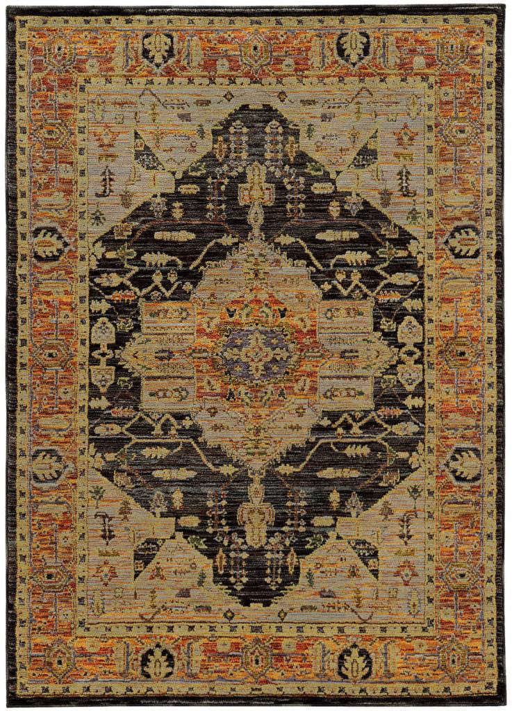 Oriental Weavers Andorra ANR 7138B Gold / Grey Rug