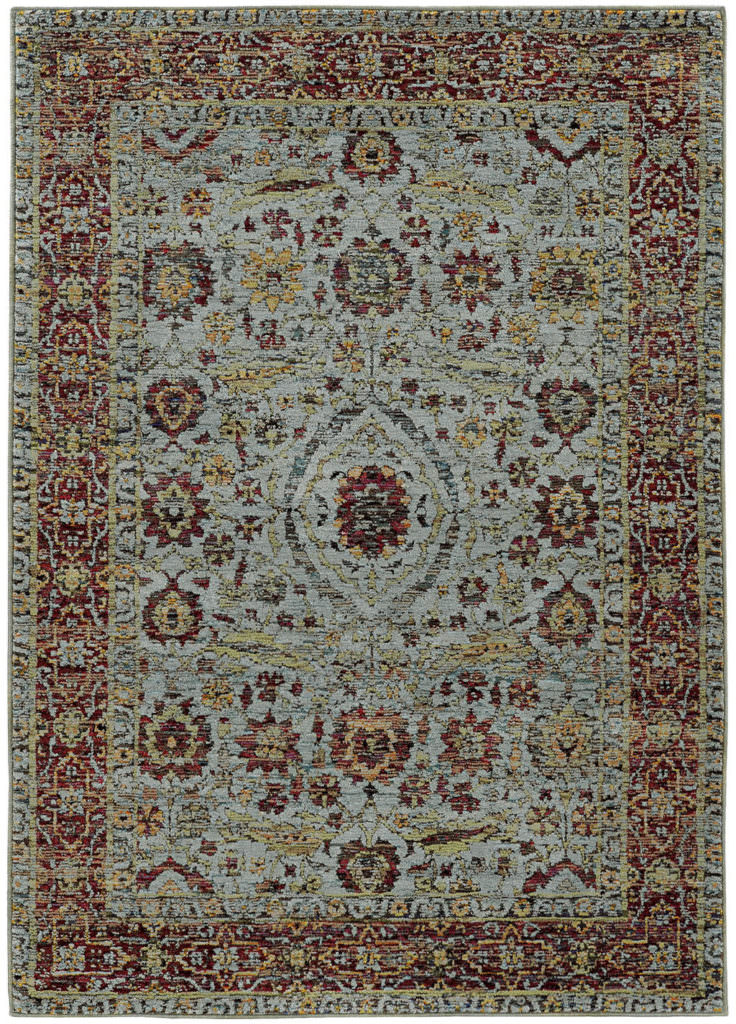 Oriental Weavers Andorra ANR 7155A Blue / Red Rug