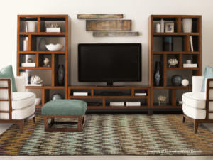 Tommy Bahama Ansley ANS 50908 Brown / Blue Room View