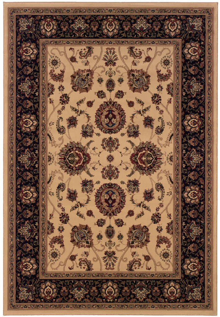 Oriental Weavers Ariana ARI 130/7 Ivory / Black Rug