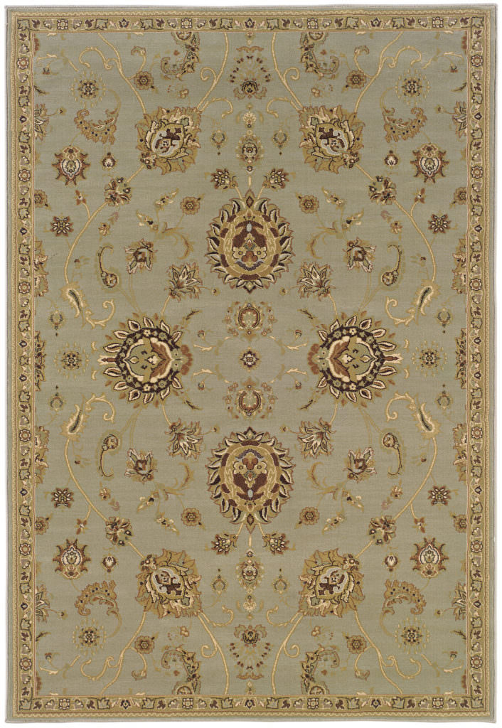 Oriental Weavers Ariana ARI 2302B Blue / Gold Rug