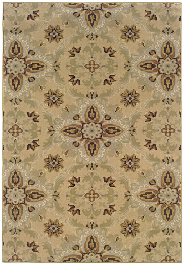 Oriental Weavers Ariana ARI 2313A Gold / Green Rug