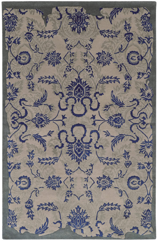 CIN 45105 Grey / Blue Rug