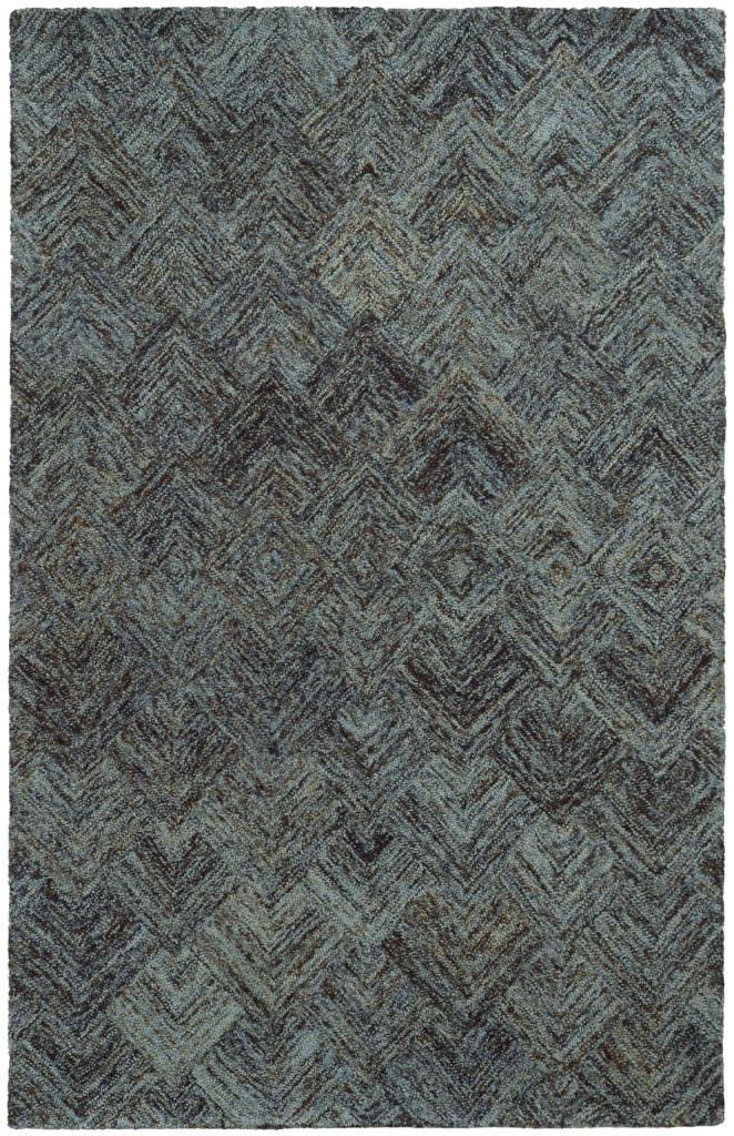CLR 42110 Charcoal / Blue Rug