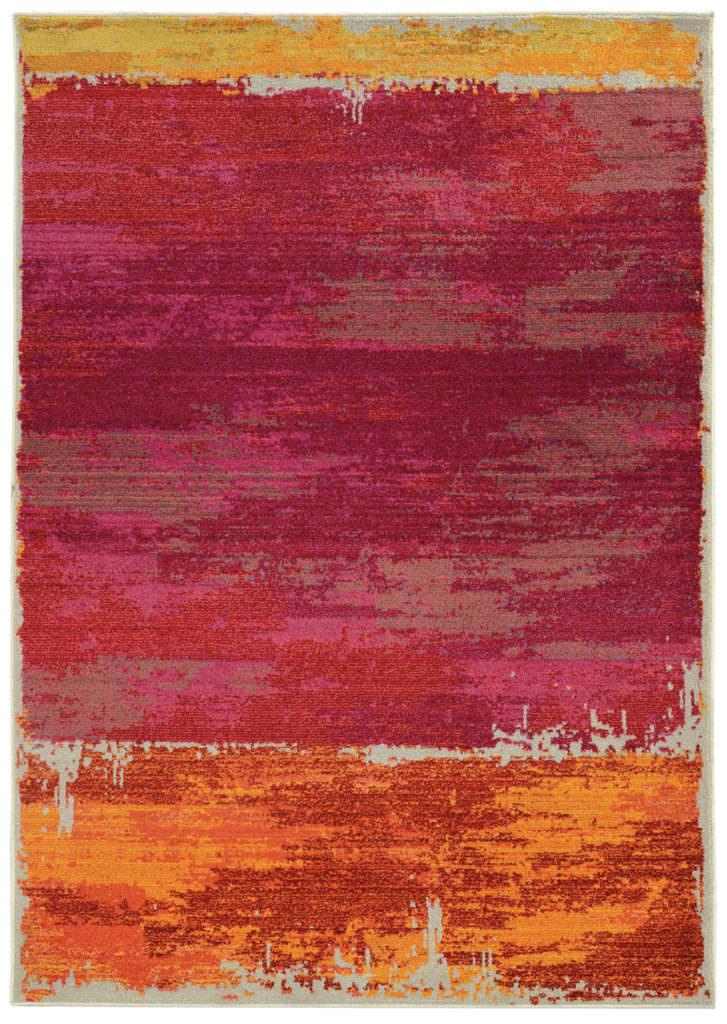 EXR 5501R Pink / Orange Rug