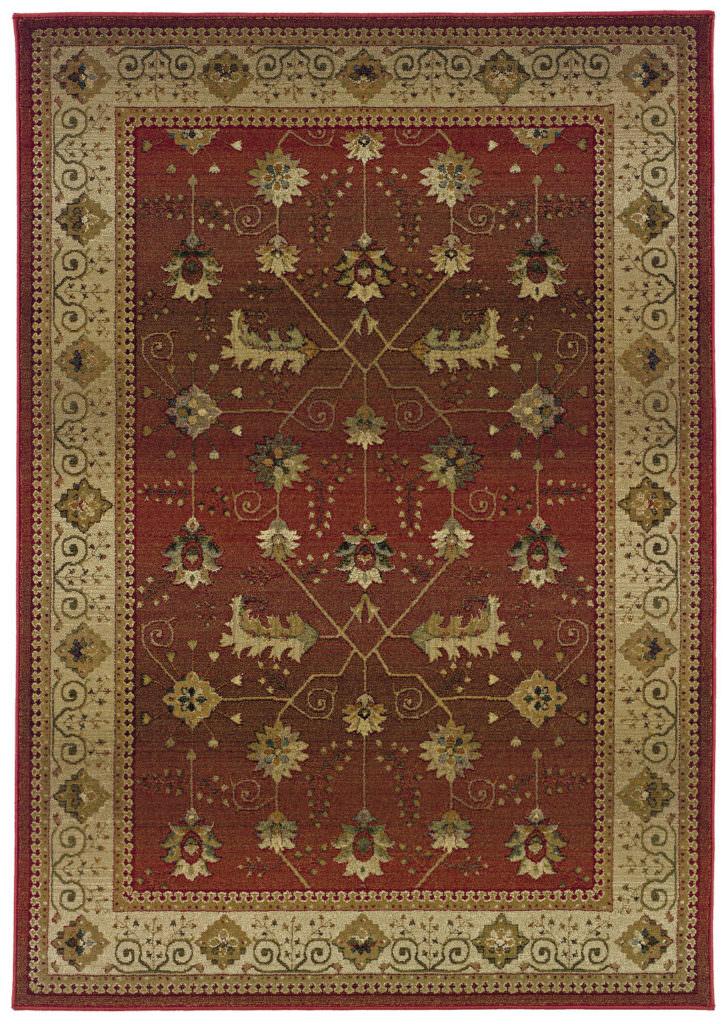 Oriental Weavers Genesis GNS 112P1 Red / Beige Rug