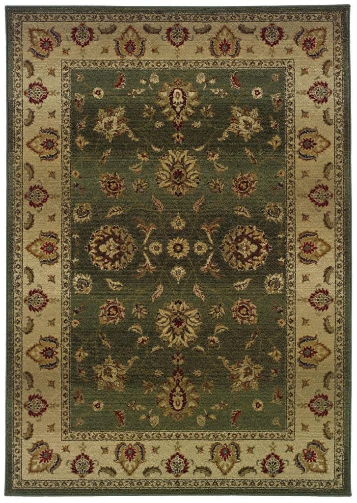 Oriental Weavers Genesis GNS 034F1 Green / Beige Rug