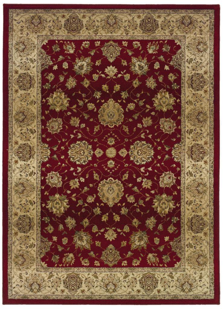 Oriental Weavers Genesis GNS 035R1 Red / Beige Rug