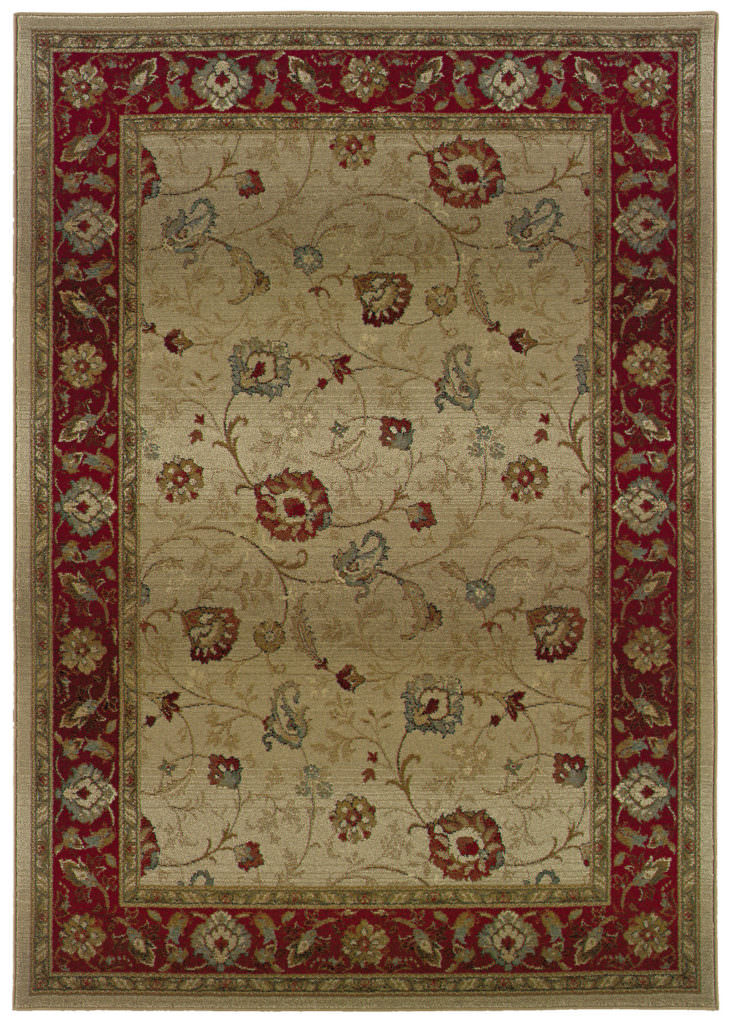 Oriental Weavers Genesis GNS 521J1 Beige / Red Rug