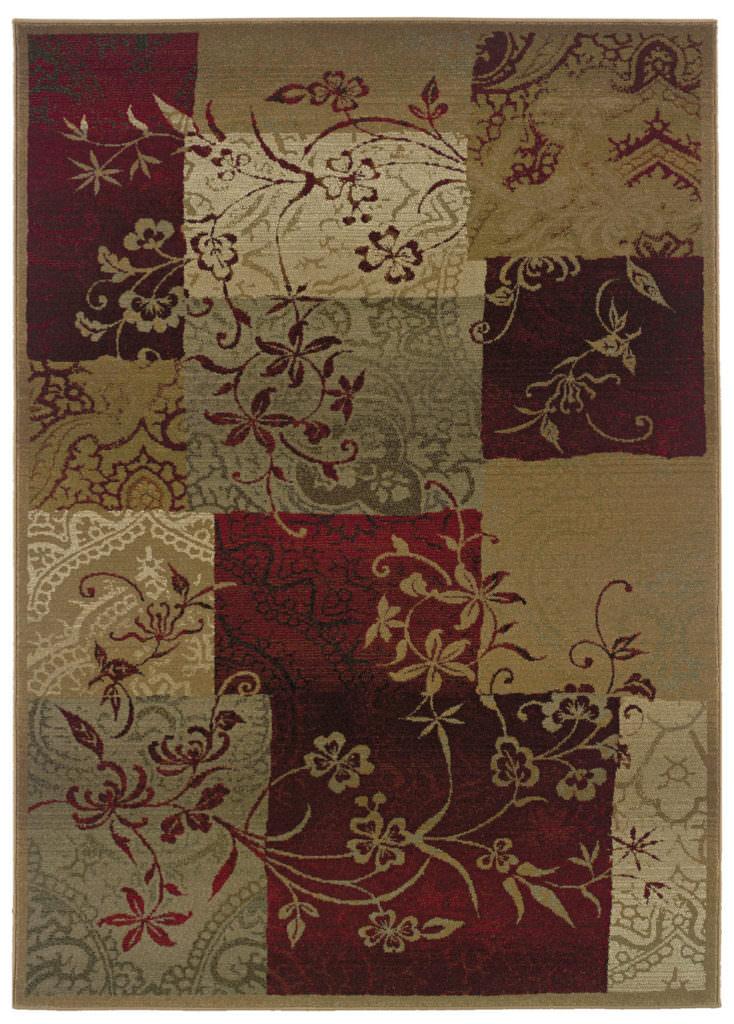 Oriental Weavers Genesis GNS 080X1 Red / Beige Rug