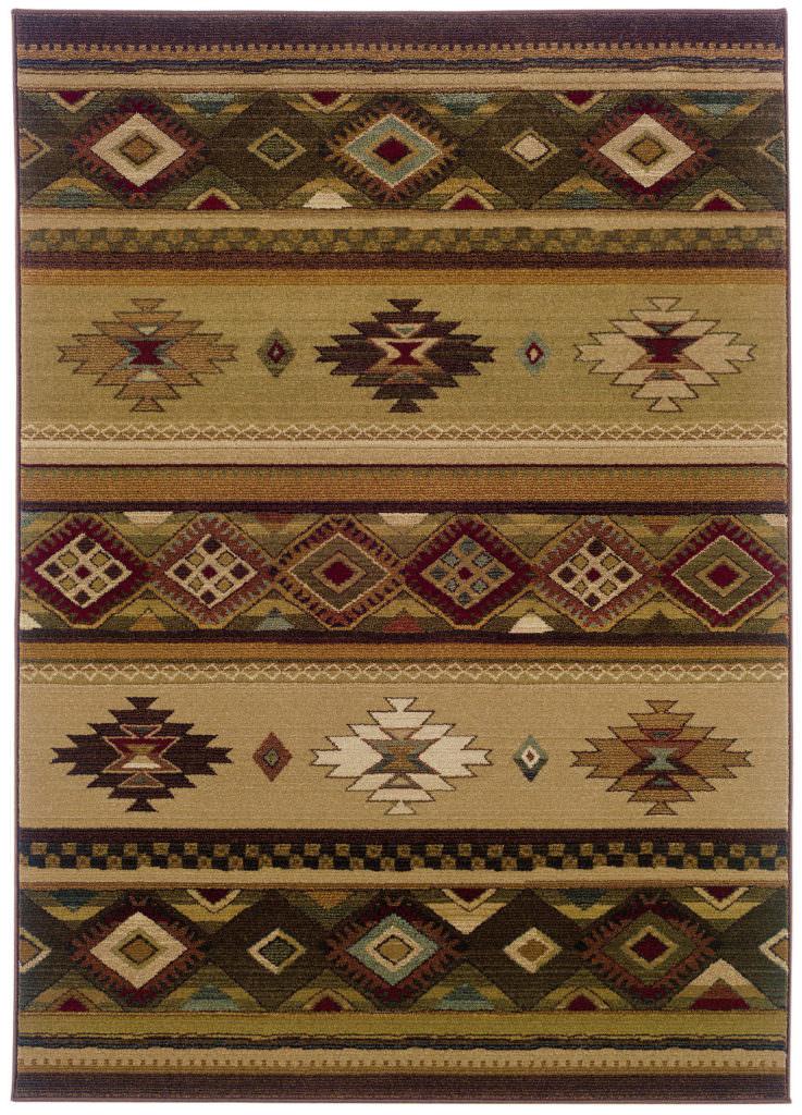 Oriental Weavers Genesis GNS 090J1 Beige / Green Rug