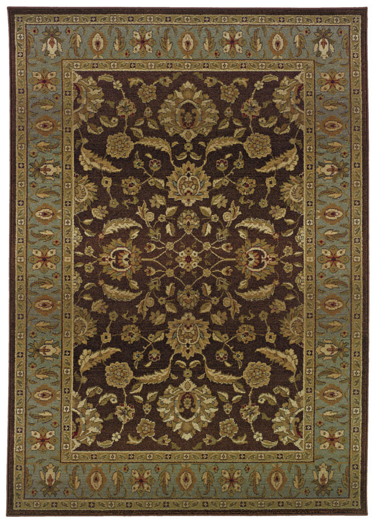 Oriental Weavers Genesis GNS 952Q1 Brown / Blue Rug