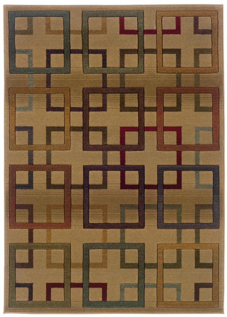 Oriental Weavers Genesis GNS 096J1 Beige / Brown Rug