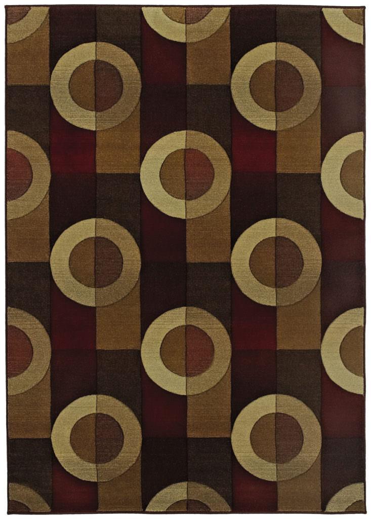 Oriental Weavers Genesis GNS 097R1 Brown / Beige Rug