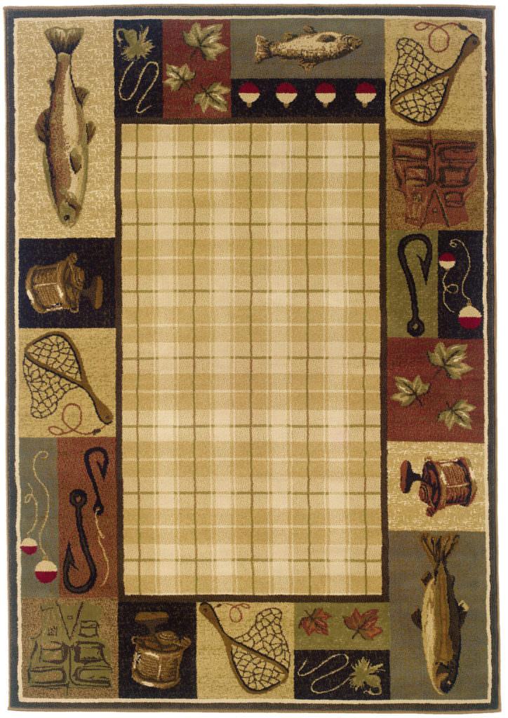 Oriental Weavers Hudson HUD 1065B Beige / Black Rug