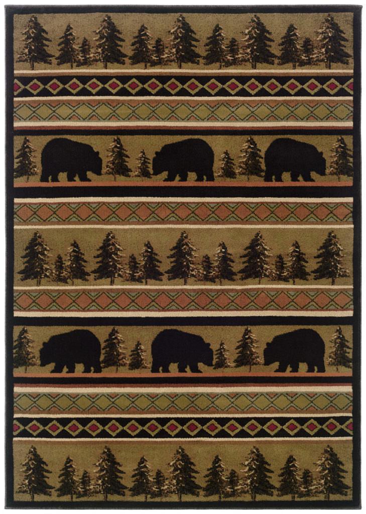 Oriental Weavers Hudson HUD 1066A Black / Beige Rug