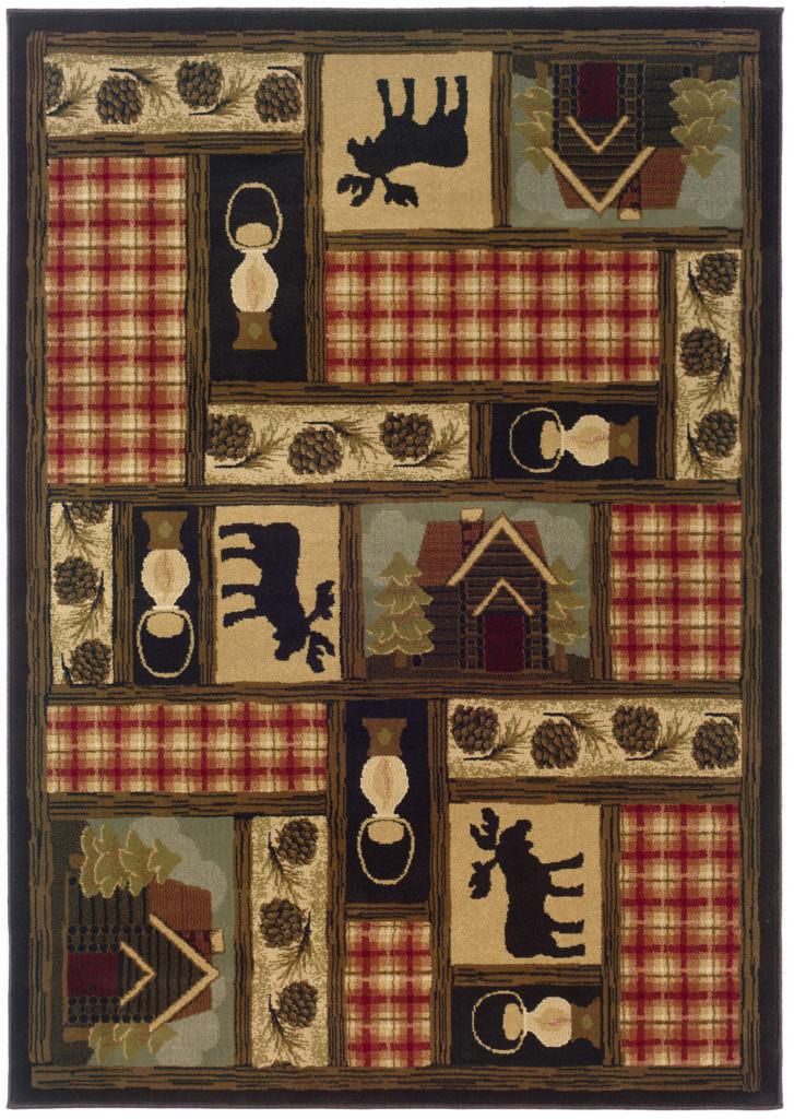 Oriental Weavers Hudson HUD 1067A Brown / Red Rug