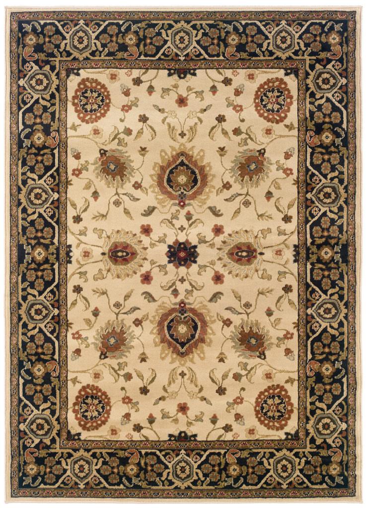 Oriental Weavers Hudson HUD 1338C Beige / Black Rug